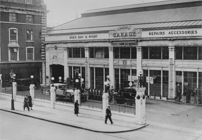 London 1920 station now Bluebird Restaurant