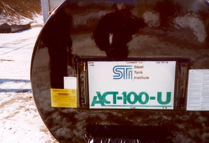 1996: STI develops ACT-100-U steel tank with external urethane coating