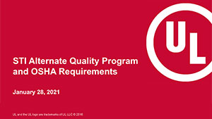 STI Alternate Quality Program and OSHA Requirements