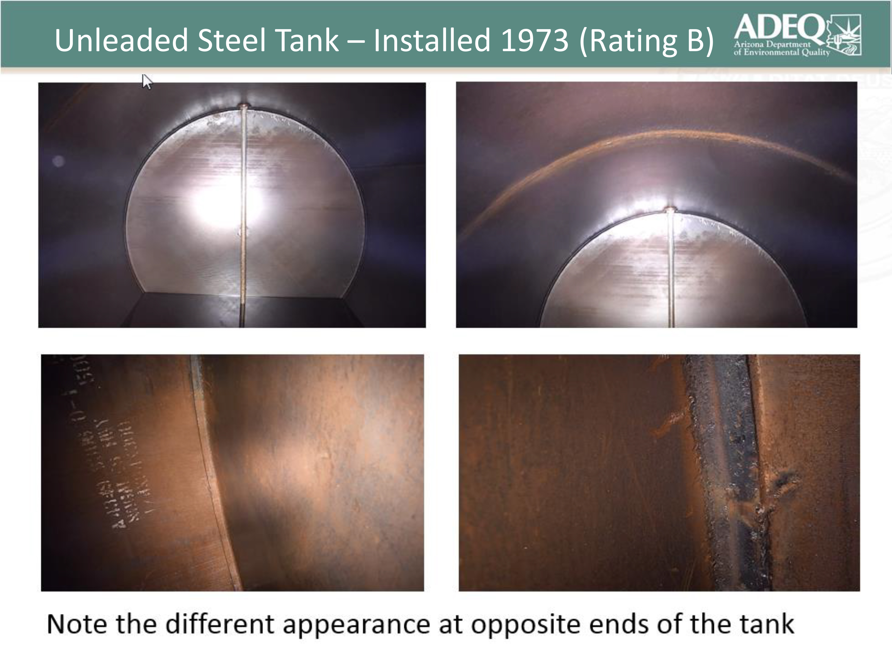 Unleaded Steel Tank Installed 1973 with B Rating