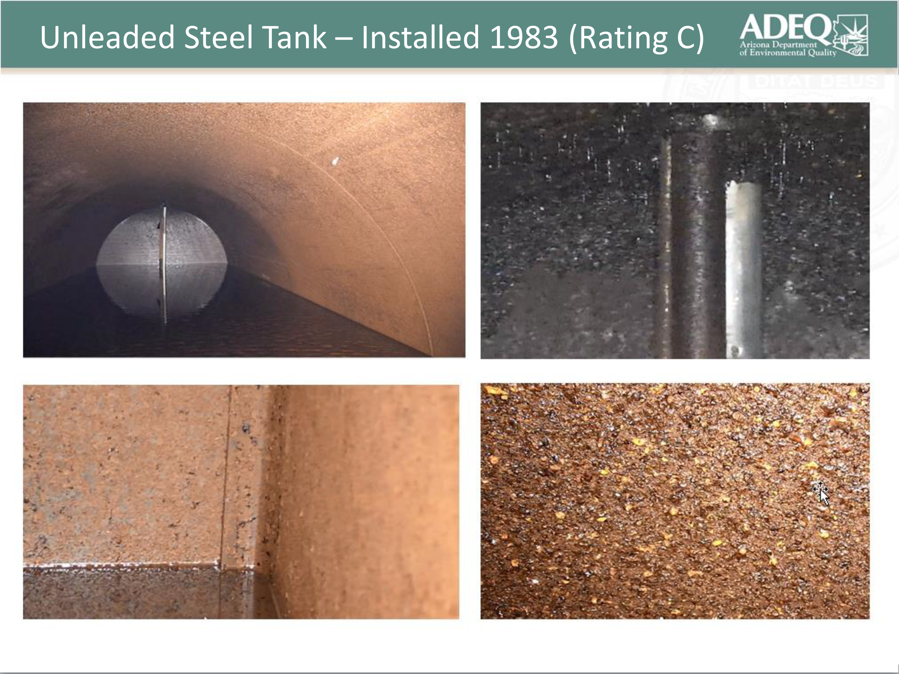 Unleaded Steel Tank Installed 1983 Rating C